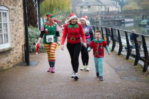 Fancy Dress Festive runners for Arthur Rank Hospice Charity