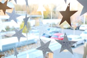 Light up a Life stars - with families', loved ones' and friends' dedications - have been hung in the long windows of the Charity's Education & Conference Centre, where, like the lights twinkling on the Hospice Christmas tree, they will continue to shine until early January.