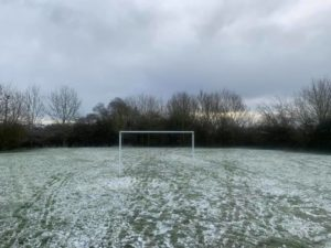 goal post in the snow