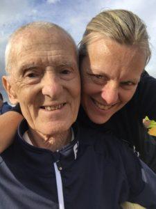 Selfie of Wendy and John in windcheaters