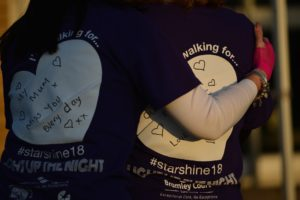 Participants taking part in Arthur Rank Hospice Charity's Star Shine Walk in previous years
