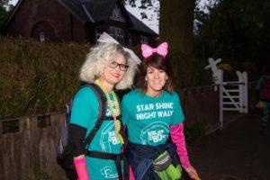 2 women dressed up for Star Shine Night Walk