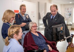 Earl of Wessex at Arthur Rank Hospice . Picture: Keith Heppell. The Earl took time during his tour to meet patients attending day therapy