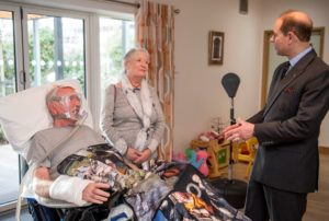 The Earl meets staff and patients being cared for on the Hospice's Inpatient Unit