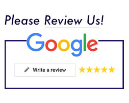 Please Review Us! logo for Google, inviting your review