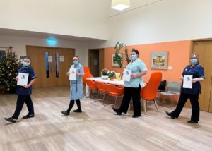 Nurses and staff walking around the In-Patient Unit at Arthur Rank Hospice