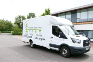 One of the Hospice Retail Team's new vans, which is now helping to rotate stock, as well as deliver and pick up donations of furniture and larger items.