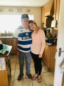 Caroline And Her Dad Having A Hug