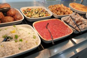 Rice and food dishes to celebrate Aid Ul Adha in the Bistro